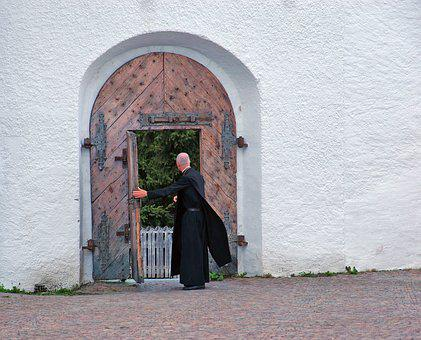 Father, Convent, Door, Hospitality, Friar, Abbey