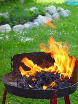 Fire, Garden, Fire Bowl, Grill, Hot, Barbecue, Nature