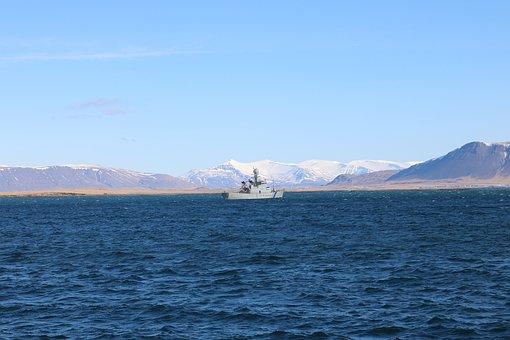 Iceland, Sea, Ocean, Fishing Boat, Icelandic, Water