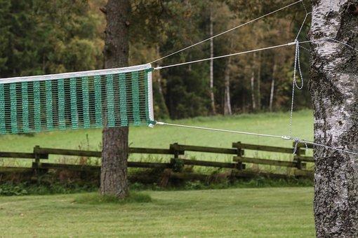 Landscape, Net, Volleyball Net