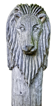 Sculpture, Holzfigur, Lion, Mane, Animal, Wood Carving