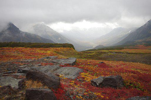 Mountain Tundra, Mountains, Ranges, Vertices, Volcano