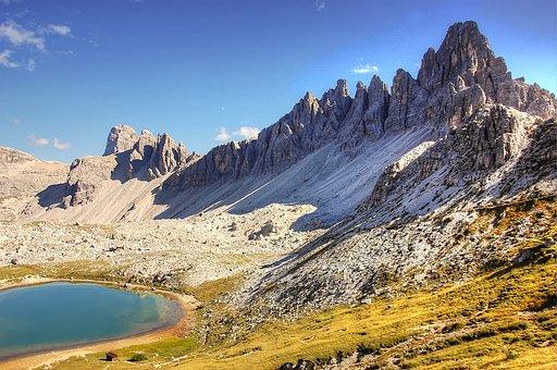 Bödensee, Dolomites, Alm, Nature, Lake