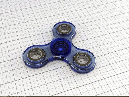Fidget Spinner, Child, Toys, Play, Finger