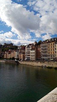 Lyon, River, Saône, Bridge, Saint-georges, Architecture