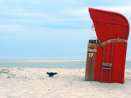Beach Chair, Sand, Beach, Sea, Holiday, Coast