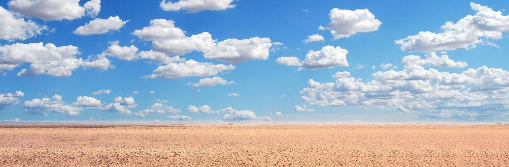 Sand, Desert, Sky, Landscape, The Background, View