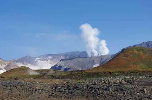 Volcano, The Eruption, Steam Release, Clouds