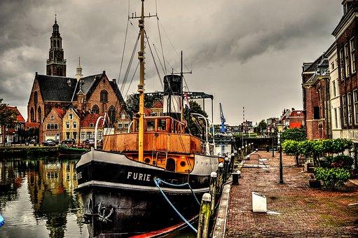 Tugboat, Boat, Maassluis, Fury, Hollands Glorie