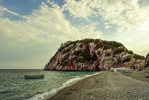Beach, Wild, Empty, Nature, Afternoon, Landscape, Boat