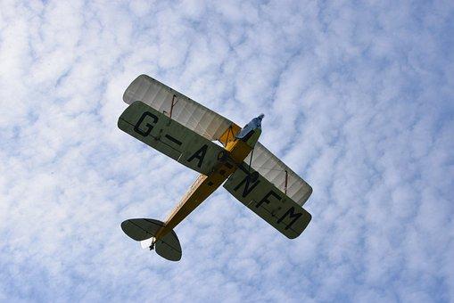 Plane, Biplane, Flying, Old Plane, Airplane, Aircraft
