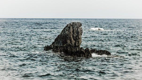 Rock, Alone, Sea, Loneliness, Solitude