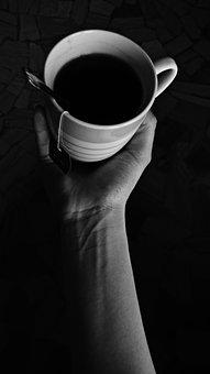 Herbal Tea, Cup, Arm, White Black
