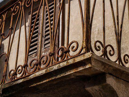 Balcony, Old, Building, Antique, Stainless