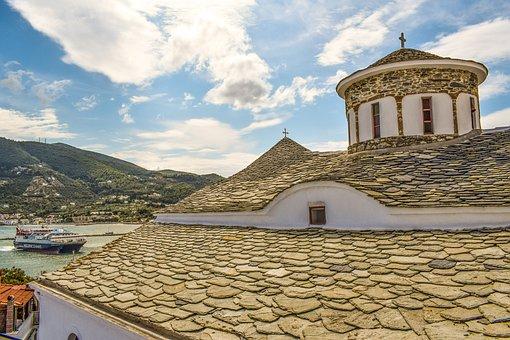 Church, Dome, Orthodox, Religion, Christianity, Island