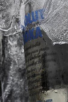 Vodka, Ice, Cold, Photo, Macro, Kitchen, Absolute