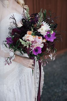 Flower, Wedding, Bride, Female, Reception, Dress