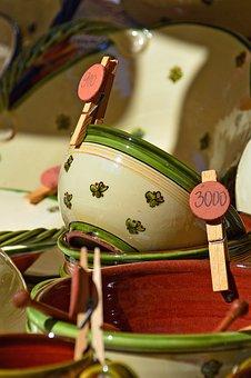 Ceramic, Ceramist, Bowl, Folk, Motif, Folk Motif