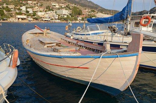 Greece, Aliki, Sea, Scenery, Port, Boats, Greece Port