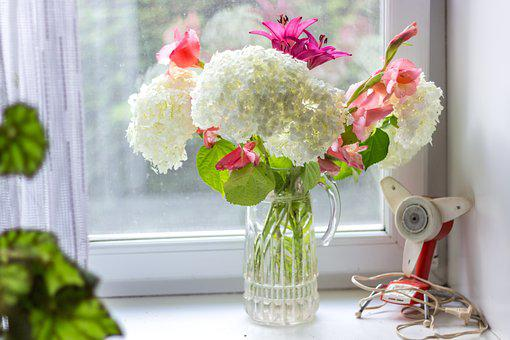Flowers, Home, Bouquet, Window Sill, Indoor, Flower