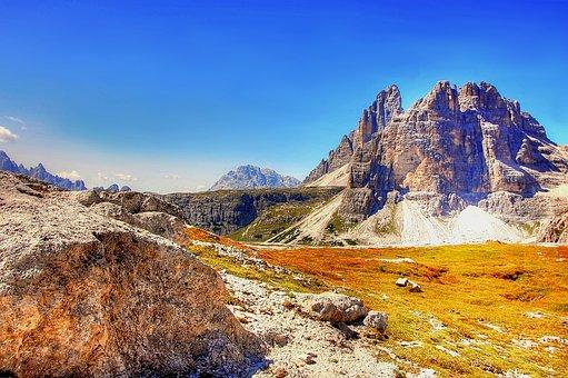 Pass Ports, Dolomites, Sesto, Sexten Dolomites, Italy