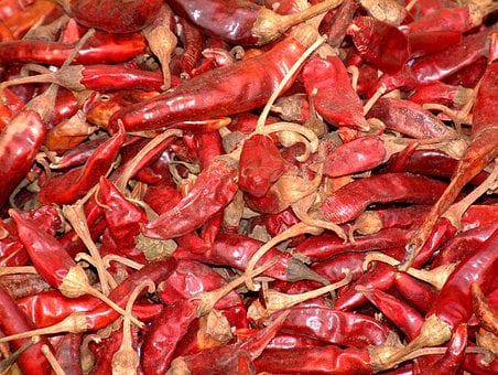 Peppers, Dried, Food, Red, Ingredient, Mexican, Hot