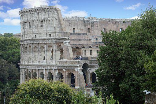 Italy, Rome, Colosseum, Places Of Interest