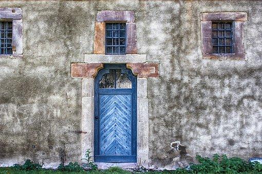 Input, Door, Wooden Door, Sand Stone, Trim, Steinmetz
