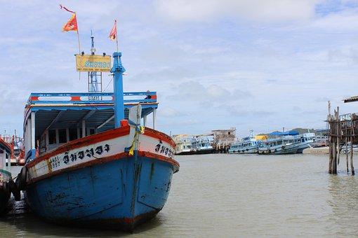 Fish Trap, Sea, Ship