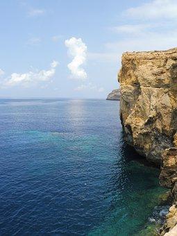 Tourist, Rock, Ocean, Sea, Travel, Tourism, Summer