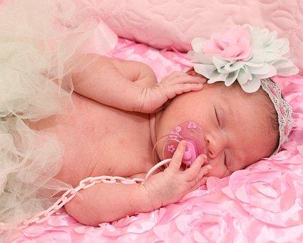 Bebe, Pacifier, Sleeping, Baby, Cute Thing, Childish