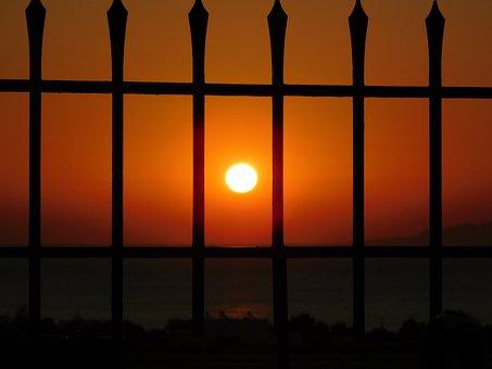 Sunset, Bar, Sea, Ocean, Mediterranean, Looking