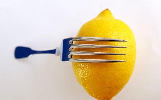 Lemon, Fork, Citrus, Cutlery, Nutrition, Vitamins