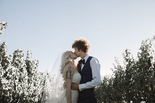 Love, Wedding, Kiss, Romantic, Heart, Woman, Couple