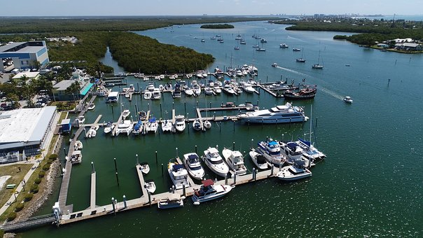 Boats, Marina, Bay, Ocean, Yacht, Water, Ship, Port