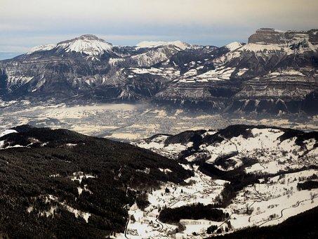 Sky, Mountains, Air, Landscape, Switzerland, Mountain