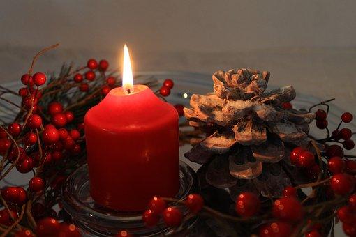 Candle, Burning Candle, Arrangement, Decoration, Advent