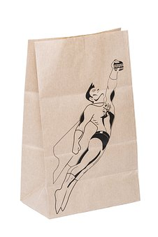 Bag Paper, Bag Advertising, Brown Kraft