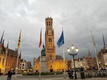 Bruges, Brugges, Belgium, Europe, Architecture, Town