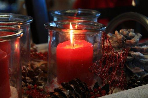 Candle, Burning Candle, Candlelight, Windlight