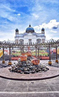 Guatemala, Cathedral, Park, Central, City, Church