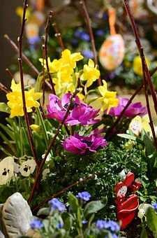Decoration, Floral Arrangement, Easter, Decorative