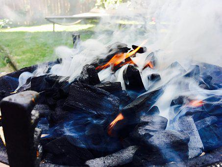 Summer, Barbecue, Carbon, Embers, Fire, Garden, Grill