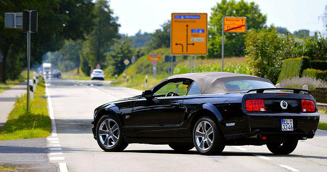 Ford Mustang, Road, Mature, Auto, Dare, Vehicle