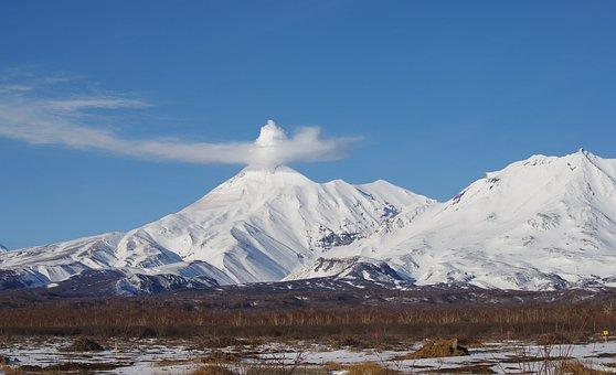Volcanoes, Mountains, Winter, Forest, Snow, Landscape