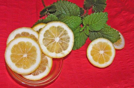 Lemon, Slices, Lemon Balm