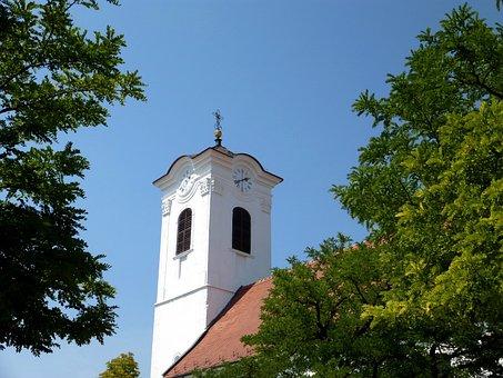 Hungary, Szentendre, Church, Church Tower, Tower Clock