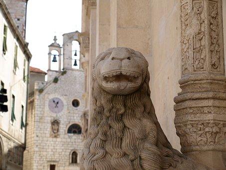 Sibenik, Dalmatia, Lion, Architecture, Monuments