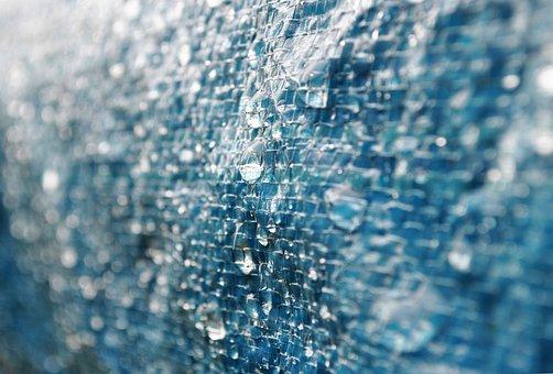 Macro, Blue, Drop, Water, Texture