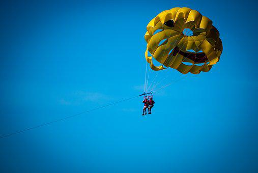 Parachute, Motorboat, Sport, Holidays, Holiday, Summer